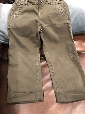 abercrombie kids Cropped Olive Khakis Girls 8