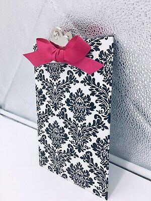 Nwt Lady Jayne 2012 Mini Decorative Clipboard - 6 X 9 B W W Pink Bow