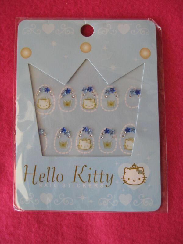 Sanrio Hello Kitty Nail StickersTiara Two Hand Set Collectible New 2003