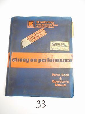Koehring 666e Excavator Parts Catalog Operators Manual  977