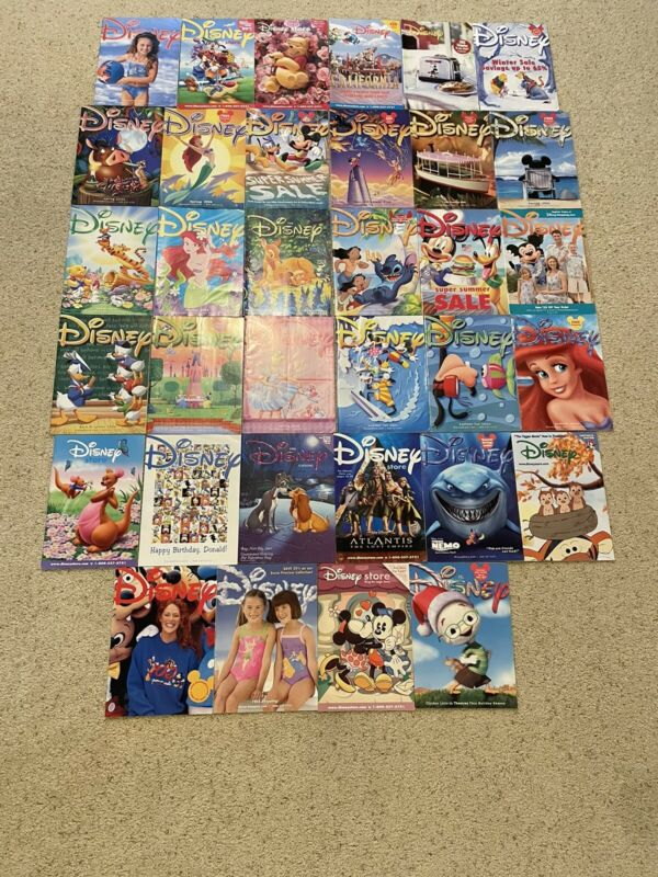 Disney Catalog lot of 34 issues early to mid 2000