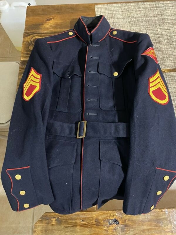 US Marine Corps Dress blues Jacket Named