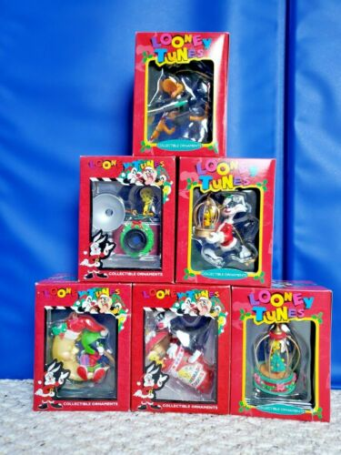 Christmas Looney Tunes LOT OF 6 Collectible Ornaments TWEETY, SYLVESTER, MARVIN,