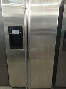 GE stainless steel upright fridge freezer South Lismore Lismore Area Preview