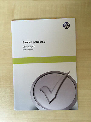 GENUINE NEW VW VOLKSWAGEN BLANK SERVICE SCHEDULE HISTORY LOG / BOOK GOLF GTD GTI