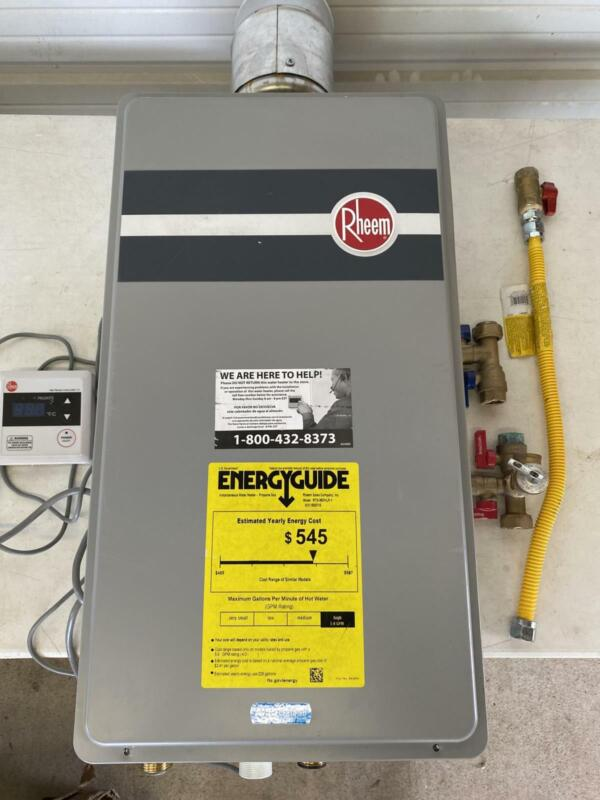 Rheem RTG-95DVLP-1 Whole House Indoor Propane Tankless Water Heater 9.5GPM