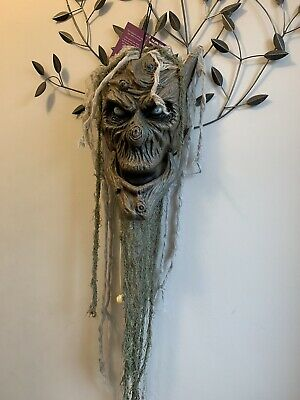 Halloween Sensor animated Moving talking tree head light and sound prop