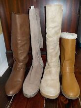 4 PAIRS LONG BOOTS BEIGE TAN AIRFLEX SUEDE RUBBER SOLE SIZE 7 38 Aldgate Adelaide Hills Preview
