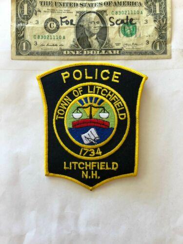 Rare Litchfield New Hampshire Police Patch un-sewn in mint shape
