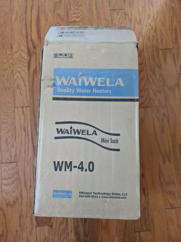 WaiWela WM-4.0 Point of Use Mini Tank Less Water Heater 4 Gallon NEW