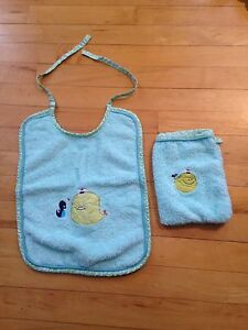Bib and bath mitt