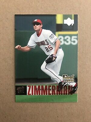 2006 RYAN ZIMMERMAN UPPER DECK ROOKIE RC BASEBALL CARD #498 ()