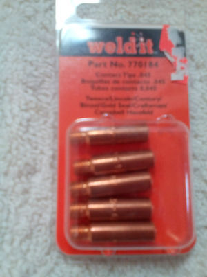 Lot Of 150 Weld-it 770184 .045 Contact Tips For Mig Welder   Free Shipp