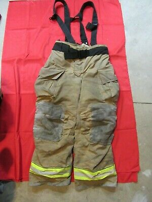 Mfg. 2013 Globe Gxtreme 38 X 32 Firefighter Turnout Bunker Pants Suspenders