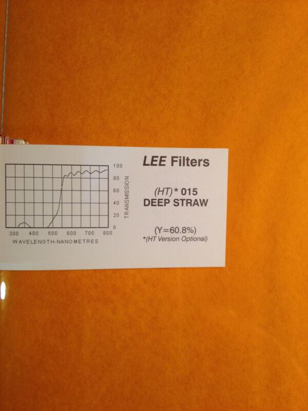 "Lee Filters 015 HT Deep Straw Lighting Gel Sheet  21"" x 22"""
