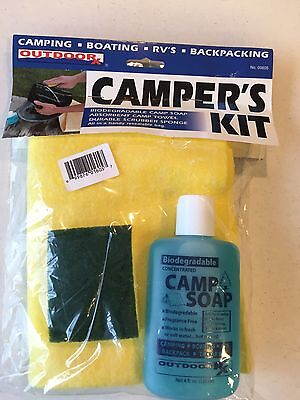 (Outdoor RX Camper's Kit for Camping, Boating, RV's, Hiking Cleaning Dishes)