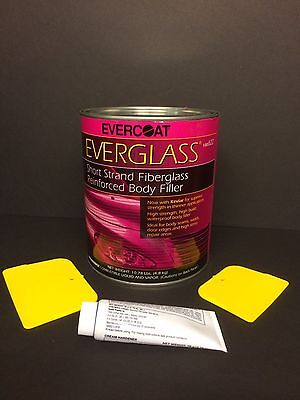 EVERCOAT EVERGLASS SHORT STRAND FIBERGLASS BODY FILLER + HARDENER & SPREADERS Fiberglass Body Filler
