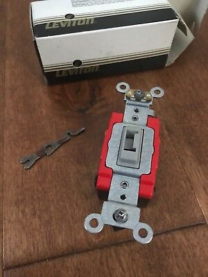 Leviton Redgray 4-way Key Lock Toggle Switch 20a Commercial 120277v Tamper Res