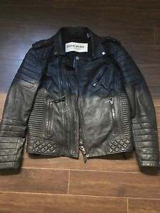 Men's Handmade sheepskin leather jacket