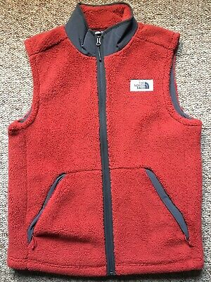 The North Face Campshire Fleece Vest Men Large Lg Worn Once Mint $100 Retail