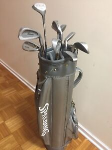 Vintage Spalding Golf Bag w/10 Pin Hi Classic golf clubs 20$OBO
