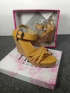 Brand new tan colour wedges/sandals - size 40
