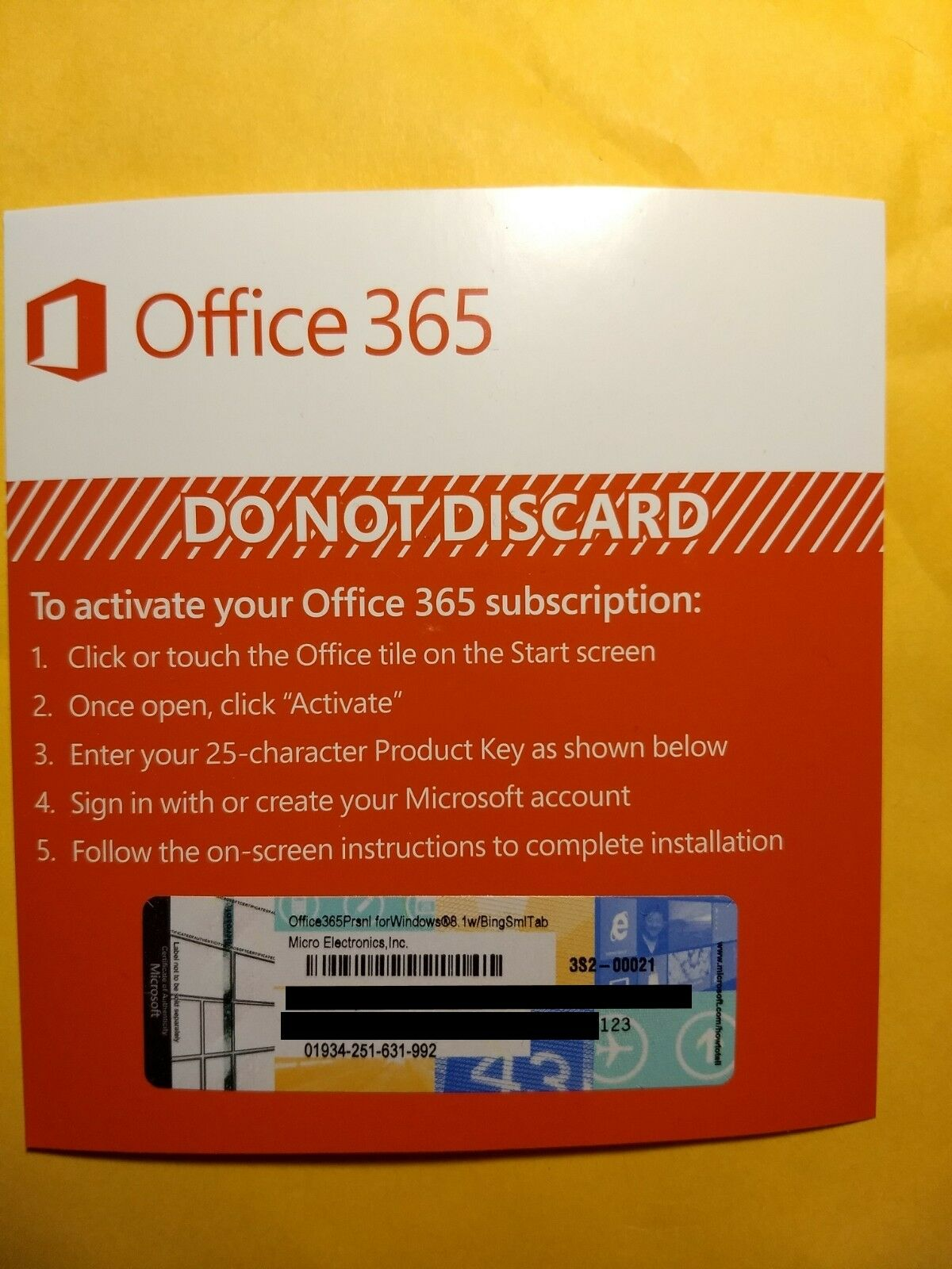Microsoft Office 365 Personal 1 Year Subscription of Latest