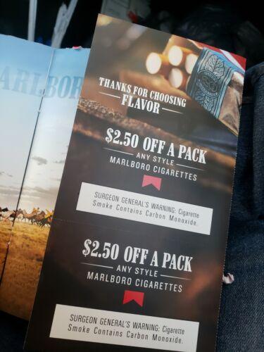 Marlboro 2.50 Off 1 Pack x2 Exp 3/31 - $6.45