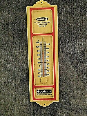 Vintage HARRIS OIL & AIR CONDITIONING AND HEATING ADVERTISING THERMOMETER OCALA