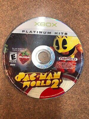 Pac-Man World 2 Platinum Hits (Microsoft Xbox, 2002) - DISC ONLY -(B)