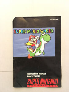 SNES Super Mario World booklet