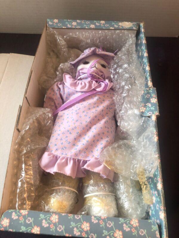 """Vintage country- Kins porcelain doll """"Belinda Bunny"""" Easter Rabbit W/Dress -new"""