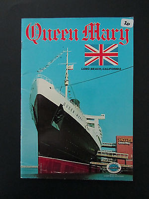 Official Queen Mary Boat Souvenir Travel Booklet Pamphlet Long Beach California