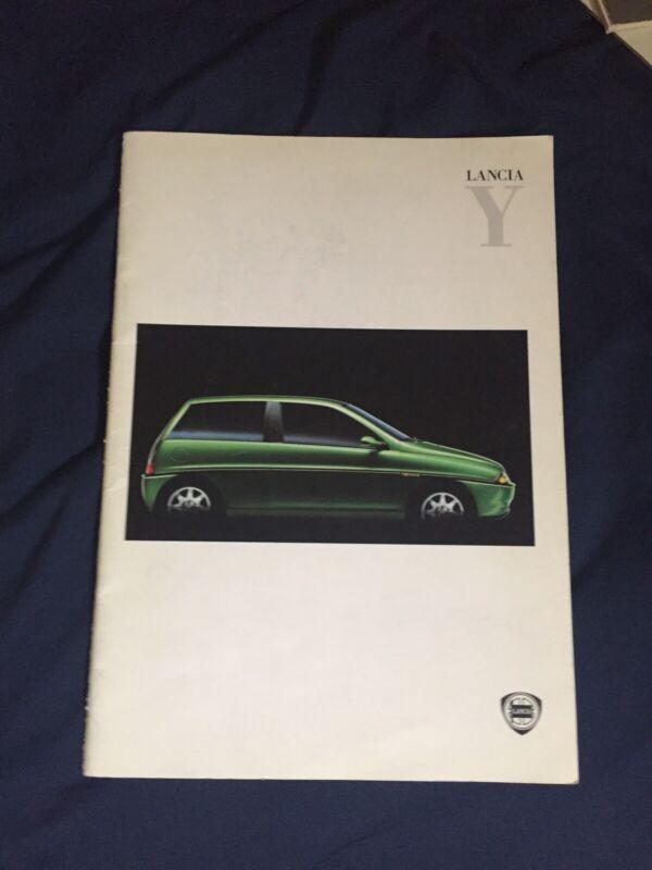 1990s Lancia Y large Prestige Color Brochure Prospekt