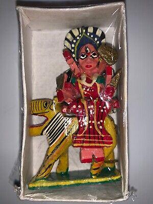 Durga Kali maa Wooden Statue Idol ~Hindu Goddess of Wealth for sale  Rancho Cordova