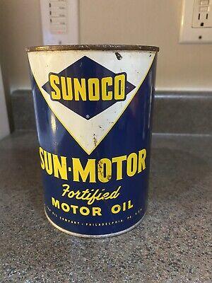 Sunoco Sun motor oil quart can
