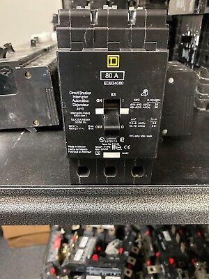 Square D Edb34080 3pole 80amp 480v Circuit Breaker New No Box