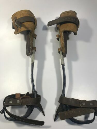 "Pole Climbers with 1&1/2"" Gaff - Complete Set - USED"