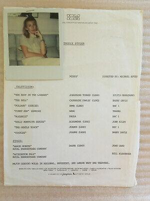 Trudie Styler (Mrs Sting) , vintage original casting polaroid photo with credits
