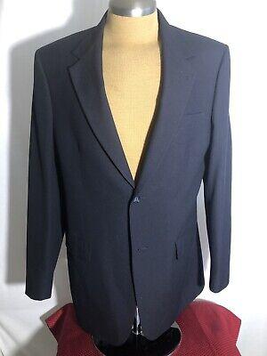 Roundtree & Yorke Mens Navy Blue Blazer Sport Coat Suit Jacket Size 40 R