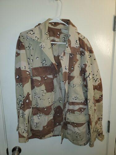 Six Color Desert Chocolate Chip Camouflage DBDU Medium Short Jacket USGI Vintage