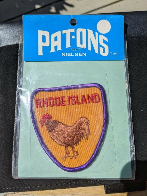 Vintage Pat-Ons Patch Rhode Island Rooster NWT Free Ship