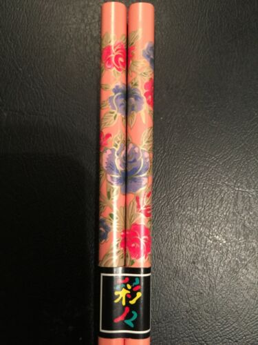 Japanese Pink w/ Red and Purple Roses Chopsticks OR Hairsticks w/ Free Handmad