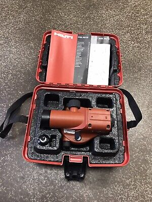Hilti Pol 10 Optical Level In Case W Papers Works Great