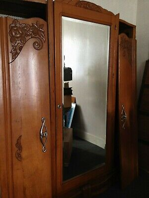 Antique French wardrobe / armoire art nouveau?