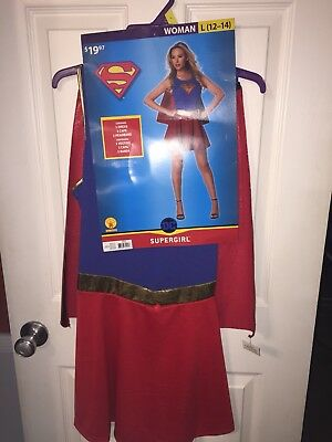 Supergirl Costume For Women (WOMANS SUPERGIRL COSTUME SIZE L)