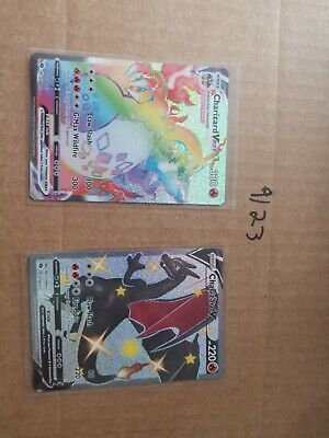 Champions Path Shiny and Rainbow Charizard V and Vmax