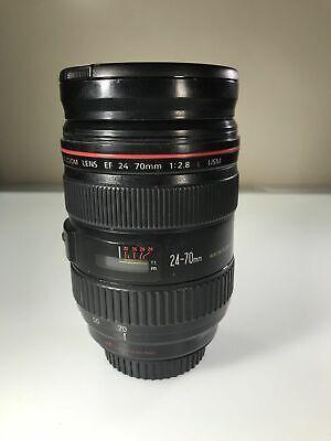 GORGEOUS Canon 24-70mm f/2.8L USM Lens, Hood, Pouch, Hoya UV - Free Shipping
