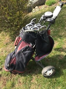 Spalding (left handed) golf clubs