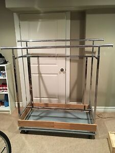 Commercial grade clothing storage rack